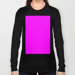 Fuchsia Violet Long Sleeve T-shirt