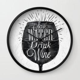 Vintage wine Wall Clock