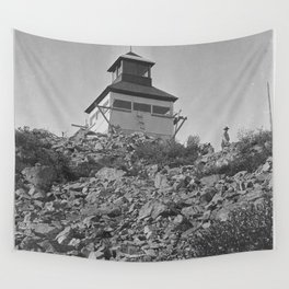 Bolan Mountain Lookout Tower, Siskiyou Forest, California , 1919 Wall Tapestry