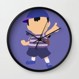 Ness(Blue)Smash Wall Clock