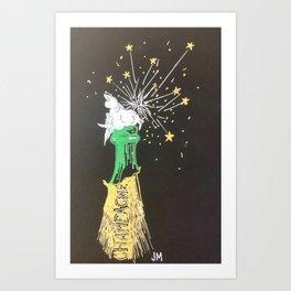 Pop the Champagne! Art Print