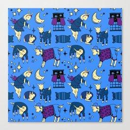 Sleepy-Time Goats Canvas Print