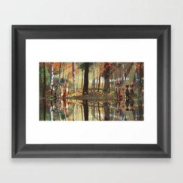 Forest Reflection Framed Art Print