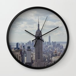 New York State of Mind view, Empire State building | The beautiful NYC from above on top of the Rock Wall Clock