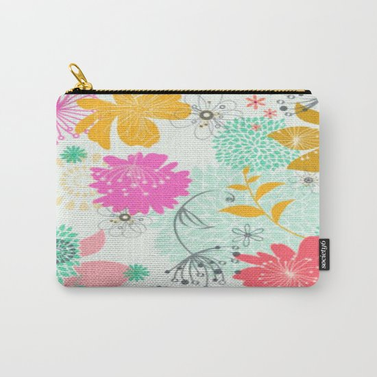 Floral vector pattern best idea Carry-All Pouch