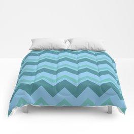 zigzag  (tosca color variations ) Comforters