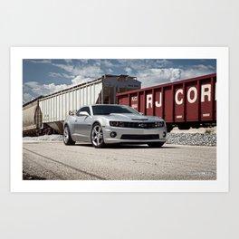 Camaro SS Train Yard Art Print