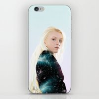 luna lovegood iPhone & iPod Skins featuring Luna Lovegood  by kelsey cooke art