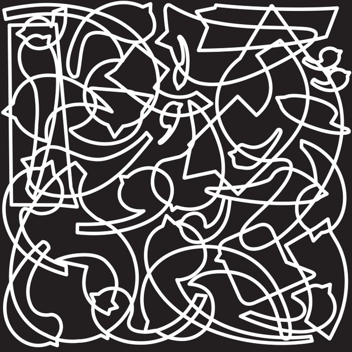 Jolly Clips (Black) Duvet Cover
