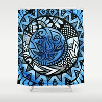 ice Shower Curtains featuring Ice by Wealie