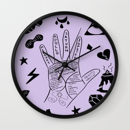 Palmistry Wall Clock