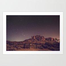 TWILIGHT STARS IN THE DESERT Art Print