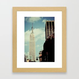 New York: Empire State Building in Color Framed Art Print