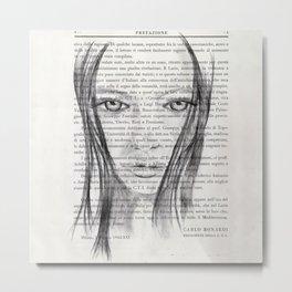 Nina - Pencil drawing Metal Print