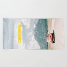 Let's Get Lost Beach Towel