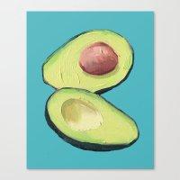 avocado Canvas Prints featuring Avocado by Magenta Rose Designs