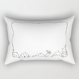 kids in the border Rectangular Pillow
