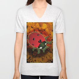 Lady Bug Unisex V-Neck