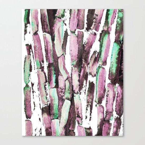 Purple Sugarcane on Greenery Canvas Print