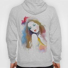 Watercolor Beautiful Girl V1 Hoody