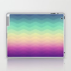 Abstract Geometric Rainbow Waves Pattern (Multi Color) Laptop & iPad Skin