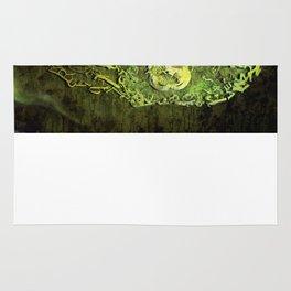 Typography Skull Green Rug