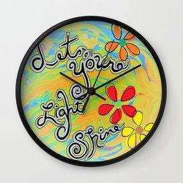 Let Your Light Shine Matthew 5:16 Wall Clock