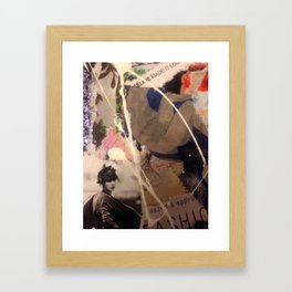 Mixed Media Fashion Collage  Framed Art Print