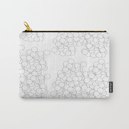 Circles | White Minimalist Carry-All Pouch