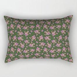 Funky Antiqued Paisley Rectangular Pillow