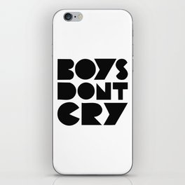 BOYS DON'T CRY iPhone Skin