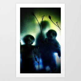 three imaginary boys Art Print