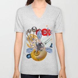 Space Fashion by Lenka Laskoradova Unisex V-Neck