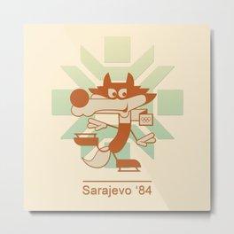 Vucko - 1984 Winter Olympics (brown) Metal Print