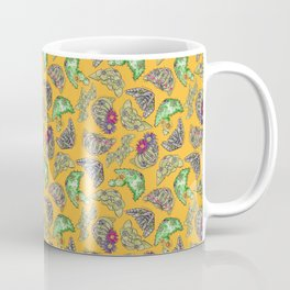 """Oro?"" Cactus with Flower Mustard Coffee Mug"