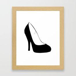Stiletto Heel Silhouette Framed Art Print