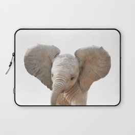 Baby Elephant, Baby Animals Art Prints by Synplus Laptop Sleeve