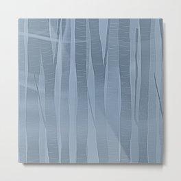 Woodland -  Minimal Blue Birch Forest Metal Print
