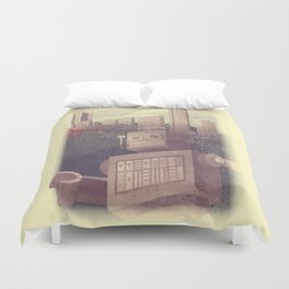 A City Snow-Bot Duvet Cover