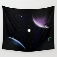planets Wall Tapestries featuring planets! by Darthdaloon