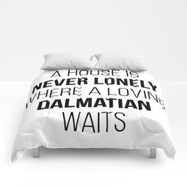 Dalmatian Owner Funny Comforters