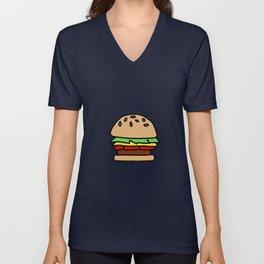 Burger Off Unisex V-Neck