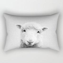 Sheep - Black & White Rectangular Pillow