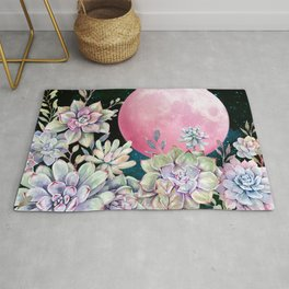 succulent full moon 3 Rug