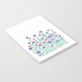 Cheerful spring flowers watercolor Notebook