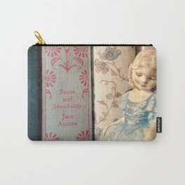 Library of Sense and Sensibility Carry-All Pouch