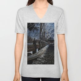 Ghostly Central Park Unisex V-Neck