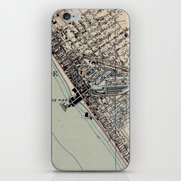 Vintage Map of Venice Beach California (1923) iPhone Skin