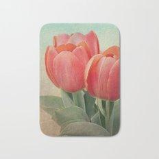 Vintage tulips(4) Bath Mat