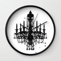 chandelier Wall Clocks featuring Chandelier by Steven Womack
